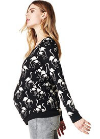 Queen Bee Stef Flamingo Print Maternity Jumper by Supermom