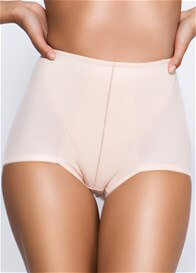 Queen Bee Leona Retro Waist Control Shaper Brief in Beige by QT Intimates