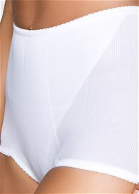 Queen Bee Leona Retro Waist Control Shaper Brief in White by QT Intimates