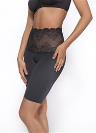 Lauryn Lace Tummy Control Long Leg in Black - ON SALE