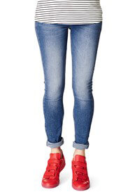 Queen Bee Skinny Maternity Jeans in Mid Blue Wash by Supermom
