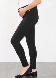 Queen Bee Seam Detail Maternity Tregging in Black by Esprit