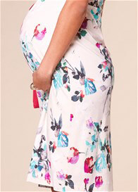 Queen Bee Anna Maternity Shift Dress in Painterly Floral by Tiffany Rose
