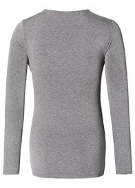 Queen Bee Cowl Neck Maternity & Feeding Top in Grey by Esprit