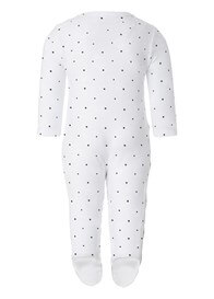 Queen Bee Riche Newborn Playsuit in White Stars by Noppies Baby