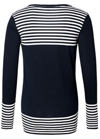 Queen Bee Navy Breton Striped Maternity Knit Jumper by Esprit