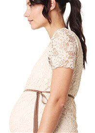 Queen Bee Celia Lace Maternity Dress in Light Sand by Noppies