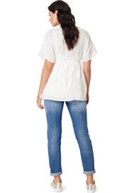Queen Bee Isa Light Wash Boyfriend Maternity Jeans by Noppies