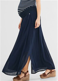 Queen Bee Chiffon Maternity Maxi Skirt in Night Blue by Esprit