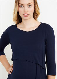 Queen Bee Cascading Ruffle Maternity Nursing Top by Maternal America