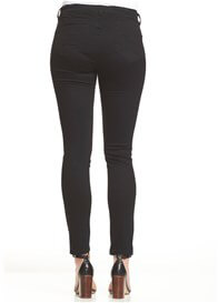 Queen Bee Base Distressed Denim Jeans in Black by Soon Maternity