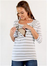 Queen Bee Peyton Postpartum Nursing Henley Top by Trimester Clothing