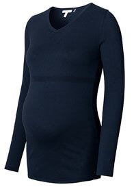 Queen Bee Fitted Cotton Maternity Knit Jumper in Night Blue by Esprit
