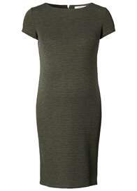 Queen Bee Zinnia Textured Ribbed Maternity Dress in Army by Noppies