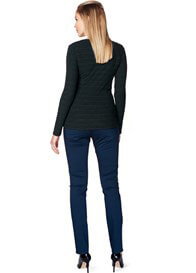Queen Bee Over Bump Maternity Chino in Night Blue by Esprit