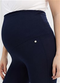 Queen Bee Over Bump Maternity Leggings in Night Blue by Esprit