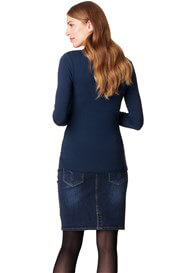 Queen Bee Long Sleeve Maternity Nursing Top in Night Blue by Esprit