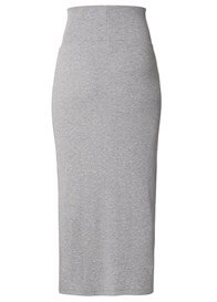 Queen Bee Grey Side Split Maxi Maternity Skirt by Supermom