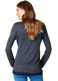 Queen Bee Maternity Knit Jumper w Blouse Hem in Night Blue by Esprit