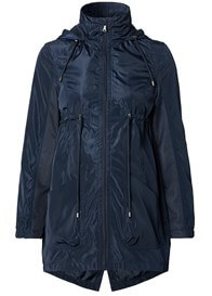 Queen Bee Hooded Maternity Parka in Night Blue by Esprit