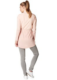 Queen Bee Champagne Pink Chiffon & Knitted Maternity Cardigan by Esprit