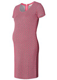 Queen Bee Stella Fuchsia Retro Print Maternity Dress by Noppies