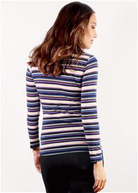 Queen Bee Leonce Nursing Top in Lilac Stripe by Floressa