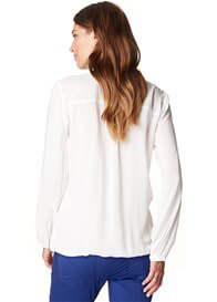 Queen Bee Flowing Viscose Maternity Blouse in Off White by Esprit