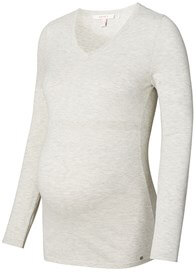 Queen Bee Fitted Cotton Knit Maternity Jumper in Pale Grey by Esprit