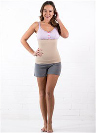 Queen Bee Postpartum Belly Support Band in Nude by Preggers