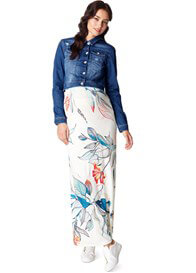 Queen Bee Neve White Floral Print Maternity Maxi Dress by Noppies