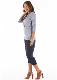 Queen Bee Anabelle Nursing Top in Grey by Floressa