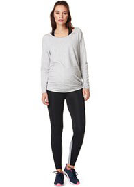 Queen Bee Heather Active Maternity Sweatshirt in Grey by Noppies