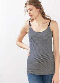 Queen Bee Maternity & Nursing Camisole in Blue Stripes by Esprit