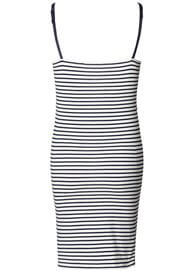 Queen Bee Maternity & Nursing Lounge Dress in Blue Stripes by Esprit