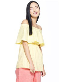 Milky Way - Peony Off Shoulder Nursing Top in Yellow - ON SALE