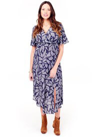 Queen Bee Woven Flutter Sleeve Maternity Wrap Dress by Ingrid & Isabel