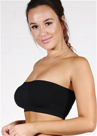 Queen Bee Padded Strapless Maternity Bandeau Bra in Black by Ambra