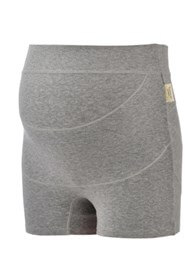 Queen Bee Ronnica Organic Cotton Maternity Shorts in Grey by Queen Bee