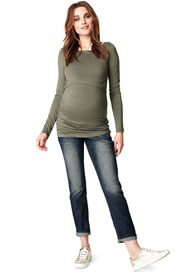 Queen Bee Hanna Maternity Nursing Top in Army by Noppies