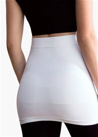 Queen Bee Built-in Support Maternity Belly Band in White by Blanqi