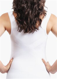 Queen Bee Underbust Maternity Shapewear Support Tank in White by Blanqi
