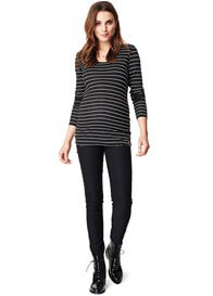 Queen Bee Stretch Skinny Black Maternity Trousers by Noppies