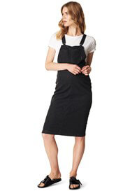 Supermom - Black Denim Pinafore Dress - ON SALE