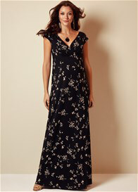 Queen Bee Alana Maternity Maxi Dress in Night Blossom by Tiffany Rose