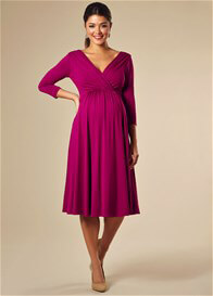 Queen Bee Willow Maternity Dress in Pink by Tiffany Rose