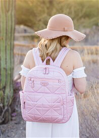TWELVE little - Companion Quilted Nappy Change Backpack in Pink
