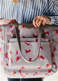 TWELVE little - Everyday Tote Plus in Grey Floral - ON SALE