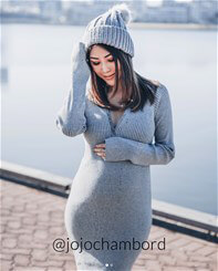 Supermom - Ribbed Knit Tube Dress