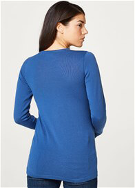 Esprit - Cross Front Nursing Jumper in Azure Blue